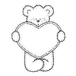 Bear w/ Stitched Heart