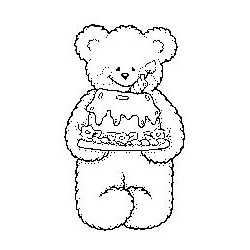 Beary Cute with Cake