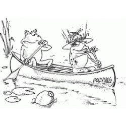 Frankie and Fay Frog Canoeing