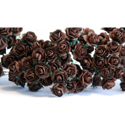 10 Chocolate Roses, 10mm