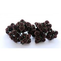 10 Chocolate Roses, 15mm