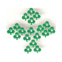 "10 Eyelets ""Clover"" - Green..."