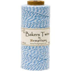 Bakers Twine - Lt. Blue/White