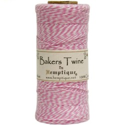 Bakers Twine - Lt. Pink/White