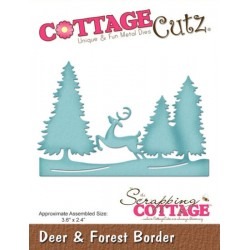 Deer & Forest Border