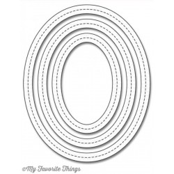Single Stitch Line Oval Frames