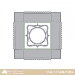 Scallop Square Box