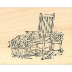 Rocking Chair with Plants