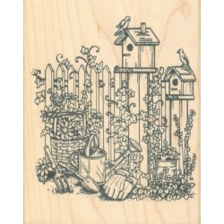 Birdhouses and Fence