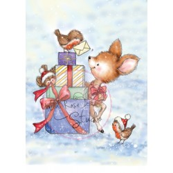 Bluebell Behind Presents