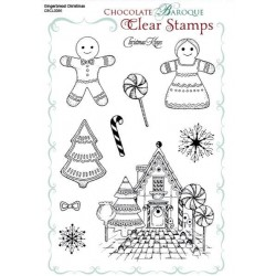 Gingerbread Christmas - Clear